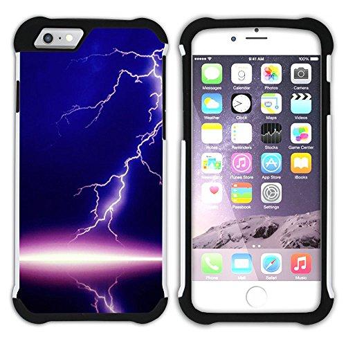 Graphic4You Blitz Blitzstrahl Sturm Hart + Weiche Kratzfeste Hülle Case Schale Tasche Schutzhülle für Apple iPhone 6 Plus / 6S Plus Design #5
