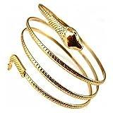 Amesii punk moda serpente a spirale a spirale superiore del braccio Cuff bracciale bracciale bracciale e Lega, colore: Golden, cod