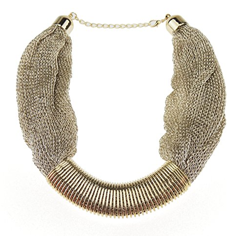 Ladies Gorgeous Gold Tone Metall ägyptische Cleopatra Style Mesh Chainmail Halskette