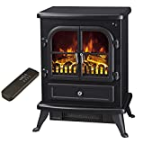 "Galleon Fires - ""Agena"" Electric Stove with Remote Control - Realistic Flame Effect Stove - Portable - Electric Stove - Heater Electric Fire Place / Fireplace - With Real Log Flame Effect"
