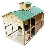 Weißes Hühnerhaus Freilauf Holz Cottage-Style Hühnerstall Käfig Auslauf - 4