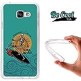 BeCool® Fun - Coque Etui Housse en GEL Flex Silicone TPU Samsung Galaxy A3 2016 , protège et s'adapte a la perfection a ton Smartphone et avec notre design exclusif.Surf pour toujours