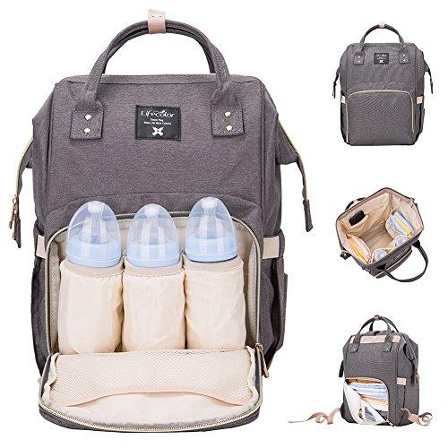 Lifecolor Baby Windel-Tasche Wasserdicht Multifunktions Reise Rucksäcke Grosse Kapazität, Stilvoll und Dauerhaft (Kleines Mädchen Bookbags)