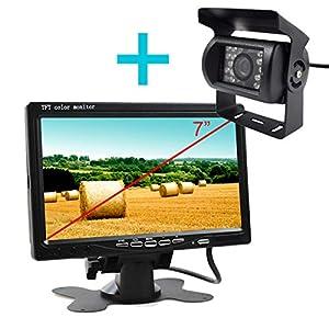 Telecamera per retromarcia con monitor per trattori for Telecamera amazon