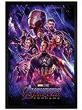 The Avengers Maxi Poster 61x91,5 cm Cadre en Bois Noir Endgame Journey's End de