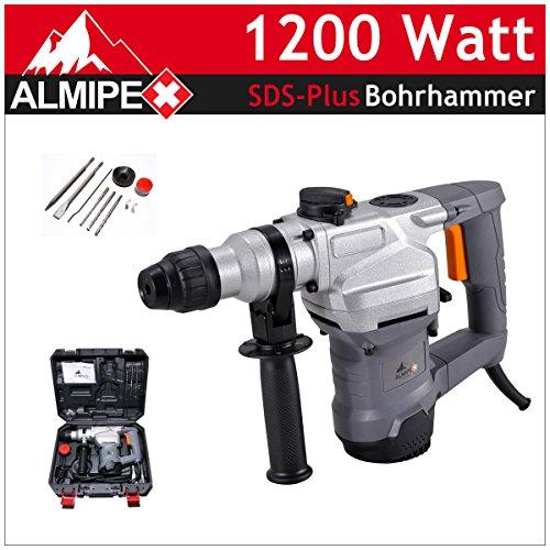 SDS Plus Schlagbohrhammer 1200 W Bohrhammer Pneumatisches Schlagwerk Meisselhammer Bohrer Koffer Zubehör