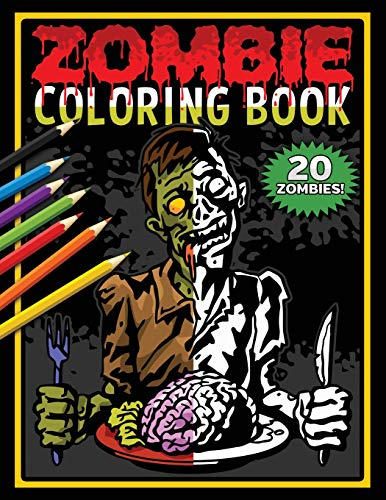 Zombie Coloring Book: Zombies Coloring Pages For Horror Fans (Movie Disney Halloween)