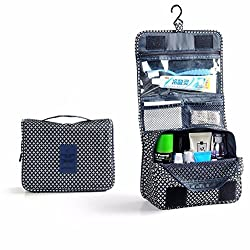 Voberry Hanging Cosmetic Makeup Bag Toiletry Travel Kit Organizer New 2016 (Deep Blue )