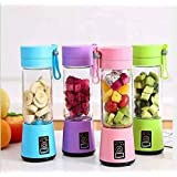 KBR® Portable Juicer Electric USB for travel Mini Small juices Fruit Mixer Machine Blender Grinder Home and Travel (Multi col