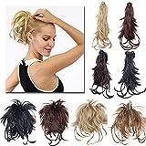 TESS Ponytail Extensions Pferdeschwanz Haarteil DIY Haarverlängerung Clip in Synthetik Haare für Zopf Haarteil Hair Extensions 12'(30cm)-100g Mittelbraun