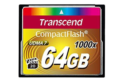 Transcend TS64GCF1000 Ultimate CompactFlash 64GB Speicherkarte (bis zu 160MB/s lesen)