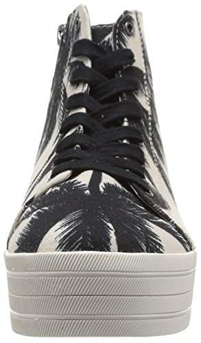 Steve Madden Bountie, baskets sportives femme multicolore (Black/White)