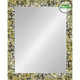 Creative Arts N Frames Multi Color Fiber Wood Made Framed Wall Mirror || Size - 15 X 21 Inch || Water Resistant And Termite Free Synthetic Fiber Wood Made || Buy 2 Or More Get 300/- Off ||
