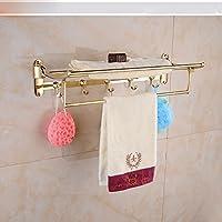 ZHGI Oro asciugamani di lusso asciugamano rack doppia piegatura attività rack di stoccaggio in acciaio inox bagno hardware asciugamano