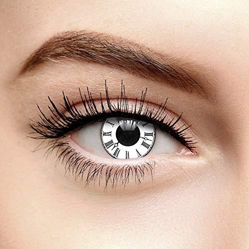 Tick Tack Halloween Farbige Kontaktlinsen Ohne Stärke Weiß (90 Tage)