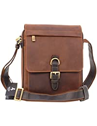 1f710b4da Visconti Messenger Organiser Bag - Genuine Leather- Secure Zip Fastening/ iPad/Kindle/Flap Over/Shoulder/Cross Body…