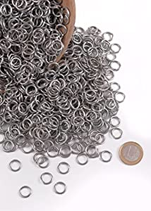 Kettenringe, 3 kg-Paket ca. 6000 Ringe verzinkt 9mm ID Kettenhaube Kettenhemd...