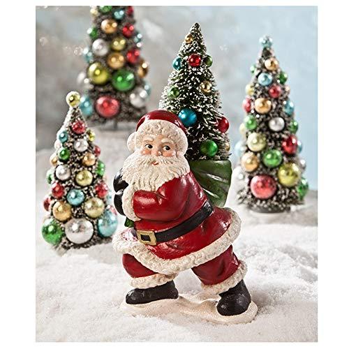 Bethany Lowe Designs Weihnachtsmann-Figur mit Flaschenbürsten-Motiv -