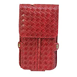 J Cover A6 Elegant F Series Leather Pouch Holster Case For Samsung I9192 Galaxy S4 mini with dual SIM card support Wine Red