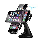 Car Phone Holder, EC Technology Dashboard Car Phone Holder Universal Phone Mount 360 Adjustable Phone Cradle with Strong Stick for iPhone 8 7 Plus Samsung S8, GPS and Other Smartphones