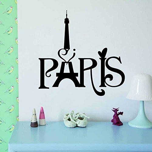 Paris-art-home-dekor (PeiTrade Paris Tower Wandaufkleber Art Decal Home Zimmer Dekor Büro Wand Wand Tapete Kunst Aufkleber Aufkleber Papier Wandbild für Haus Schlafzimmer)