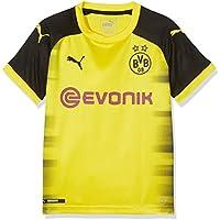 Puma BVB Replica, Camiseta Internacional del Borussia Dortmund para Niño, Amarillo (Cyber Yellow-Puma Black), 140 EU (Talla del Fabricante: M)