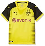 Puma Jungen BVB Kids Int'l Replica Shirt with Sponsor Logo T-Shirt, Cyber Yellow Black, 128
