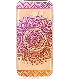 Samsung Galaxy A5 2017 Hülle,LTWS TPU Silikon Hülle für Samsung Galaxy A5 2017 Handyhülle Schale Etui Protective Case Cover dünn mit Drucken Muster-indisches Heilige Blume mandala Lila