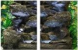 Vierstufiger-Felsbrunnen mit Beleuchtung
