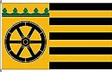 Tischfähnchen Wentorf bei Hamburg - Tischflaggenständer aus Chrom