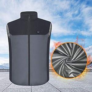 ningxiao586 Elektrisch beheizte Weste, waschbare, mit USB betriebene, beheizte Winter-Wickeljacke mit 3 Temperaturen für kalte Outdoor-Aktivitäten, Jagd, Camping, Wandern, Skifahren, Angeln