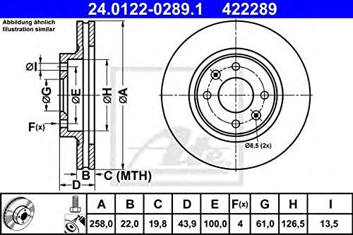 ATE 24.0122–0289.1–Disco Freno