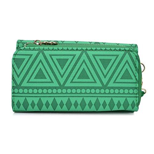Kroo Pochette/étui style tribal Urban Pop Pour Alcatel Fire E/D3 bleu marine vert