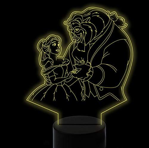 (Nmdztz 3D Film Charaktere Form Nachtlichter Usb Bunte Visuelle Led Cartoon Tischlampe Schlafzimmer Schlaf Dekor Leuchte)
