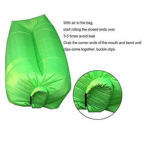 chaise longue gonflable canap avec sac de transport hamac air canap lit gonflable piscine. Black Bedroom Furniture Sets. Home Design Ideas