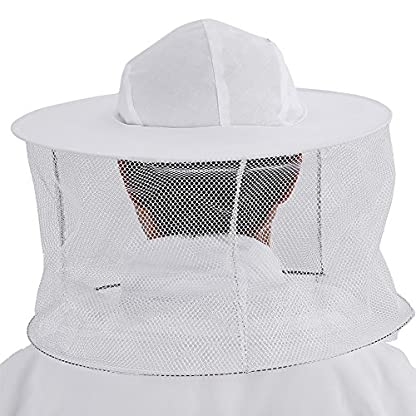 Zerodis Beekeeping Suit Beekeeping Protective Equipment Bee Keeping Full Body Cloth with Veil Hood Total Protection for Professional & Beginner Beekeepers(XL) 4