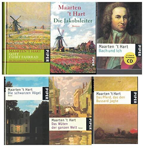 6 x 't Hart: Die schwarzen Vögel - Das Wüten der ganzen Welt - Die Jakobsleiter - Das Pferd, das den Bussard jagte - Bach und ich: Mit Musik-CD - Gott fährt Fahrrad