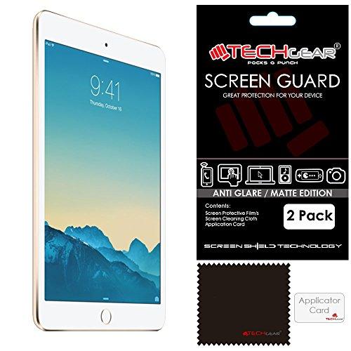 [Pack 2] Techgear® Apple iPad Mini 4Displayschutzfolie Blendschutz/Matt mit Reinigungstuch und Applikationskarte