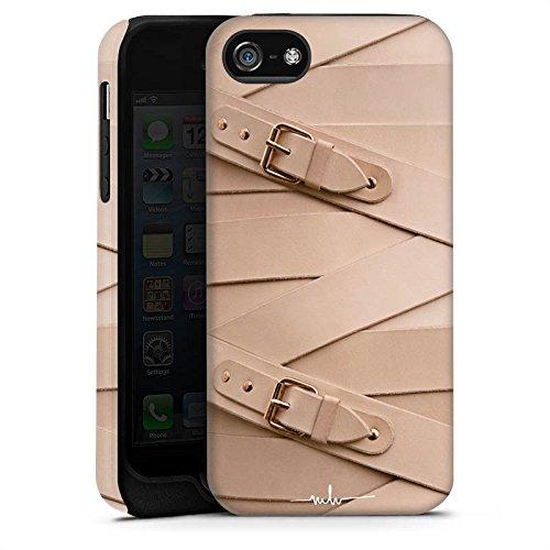 Apple iPhone X Silikon Hülle Case Schutzhülle Schnalle Leder Mode Tough Case matt