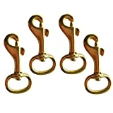 Gazechimp 4er-Set 56mm Messing Swivel Karabinerhaken drehbarer Wirbel Karabiner Clip