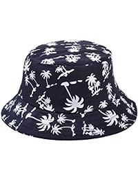 TININNA Estivo Unisex Coconut Tree Stampe Cotone Bucket Hat Cappello da  Pescatore Berretti Visiera di Sole f047d5f0444e