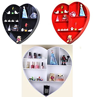 New 7 Compartment Heart Shape Floating Shelves . Decorative Wall mountable Shelve