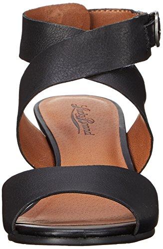 Lucky Brand Jemini Cuir Sandales Compensés Black