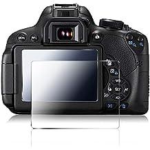 Cámara Protector de pantalla para Canon 700D 750D 760D T5i T6i T6S, AFUNTA 2 Pack Anti-cero antideslumbrante El vidrio templado