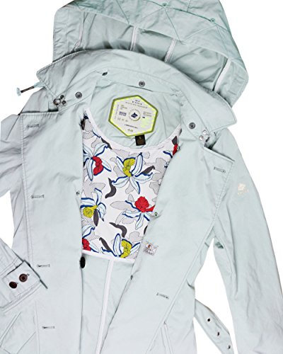 Khujo Damen Kurzmantel Trenchcoat Übergangsmantel mintgrün (306 PISTACH)