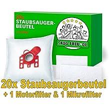 20 Staubsaugerbeutel kompatibel zu MIELE Typ F / J / M, F/J/M, SWIRL M 50, H 41, SWIRL M50, H41, MENALUX 3100 von SAUG-FREUnDE