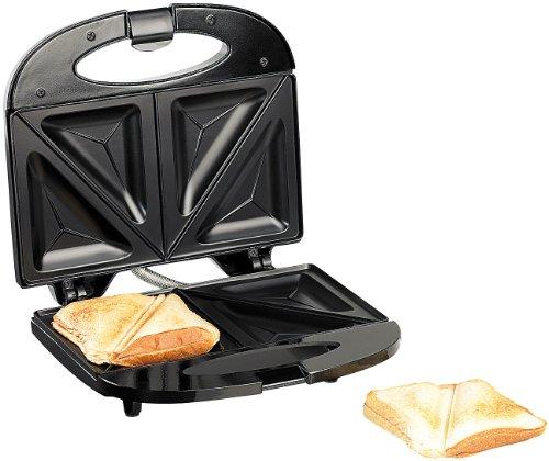 Rosenstein & Söhne Antihaft-beschichteter Sandwich-Toaster für 4 Portionen, 750 Watt