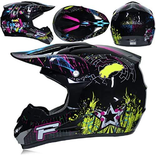 Full-Face-Motorradhelm für Erwachsene, Herren ATV Bike Downhill Racing Helm Crosshelme Offroad-Schutz für Motocross