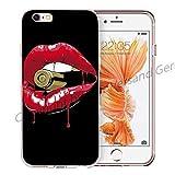 Blitz LIPS Schutz Hülle Transparent TPU Cartoon Comic iPhone Lippen Patrone M13 iPhone 8sPLUS