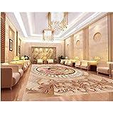 Rureng 3D Wallpaper Pvc Marmor Abstrakte Ring Europäischen Stil 3D Bodenbelag Pvc Selbstklebende Tapete Boden 3D Mural-120X100Cm